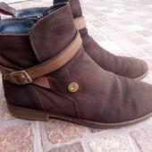 Ботинки деми.Натуральный замш,ремешки нубук,25 см