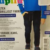 Классные термо джинсы джоггеры на мальчика Lupilu Германия размер 104