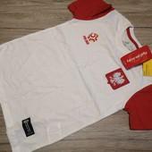 Польша! Спортивная футболка на мальчика, размер 140 см рост