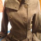 Пиджак-пальто пепельного цвета на 42-44(укр.)