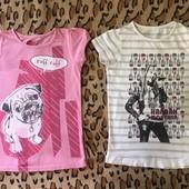 2 фірмові футболки. 9-10 р. 134-140см