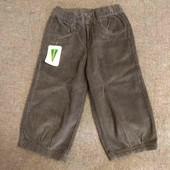 El Corte Ingles Bts укороченные вельветовые брюки хаки девочке 5-6л 110-116см плотные новые