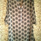 Распродажа блузок! 40-42р. Пудровая свободная блузка-туника M&S