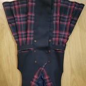 Сарафан на подкладке + пиджак 128 см