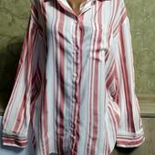 Собираем лоты!! Женская рубашка в полоску, размер 38/6,73%вискоза, 26%полиестер
