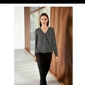 esmara,стильная блуза размер евро 38 +6 замеры