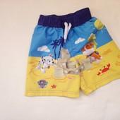 Пляжные шорты Nickelodeon Щенячий патруль на 4-5лет, см. замеры