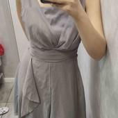 Платье серое легкое