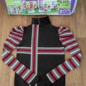 Не пропустите!!!Тепленький трикотажный свитерок-гольфик на девочку9-15 лет. Идеал!