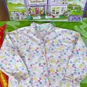Не пропустите!!!Красивая фирменная байковая рубашечка на девочку 9-10 лет