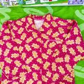 Не пропустите!!!Красивая фирменная байковая рубашка с чудиками на красавицу 6-7 лет