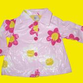 Яркий плащик-дождевик в цветочки на 12-18 месяцев