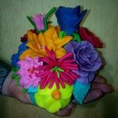 Акция!натурал.пластилин,моделин,масса для лепки PlayDoh ручн.работы. 12 цветов=700грамм. СкидкаУП-5%