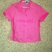Распродажа! 36-38р. льняная розовая рубашка Montego