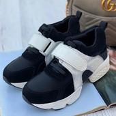 Кожаные кроссовки, размер 36- 23 см