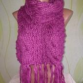 Вязаный шарф акриловый 260см длина, 18см ширина