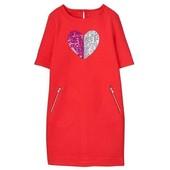 Стильне плаття Gymboree (Америка) на 7-8 років з блискучим серцем. Платье Джимба