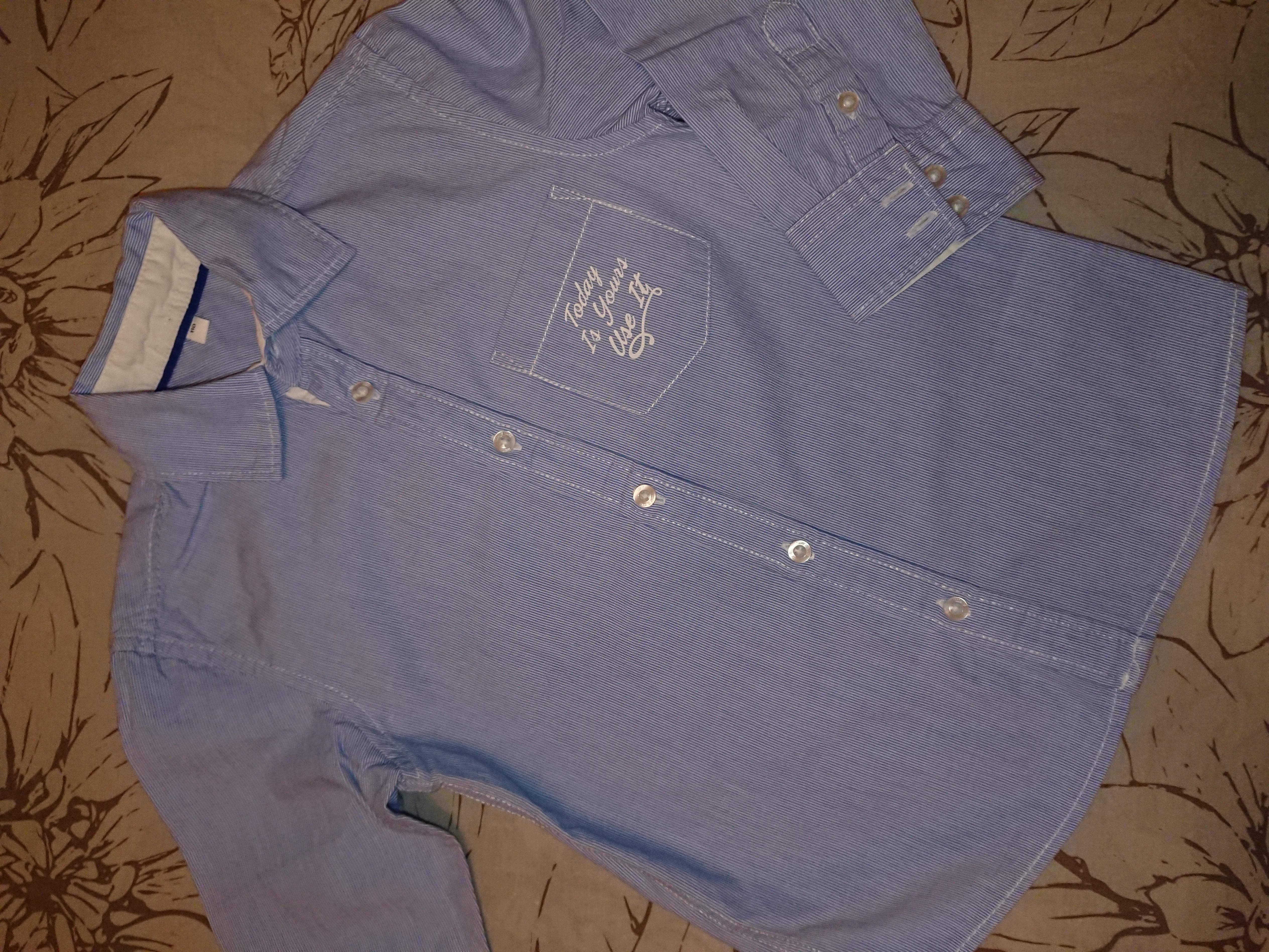 Не пропустите!Шикарная рубашка Palomino,сост.новой вещи, рост 110см!