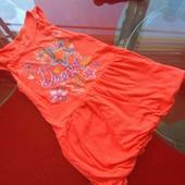 Extremely me платье сарафан 5-6 л 110-116 см на лето неоновый коралл