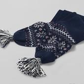 Шерстяной вязаный шарфик TCM Tchibo