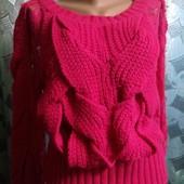 Шикарный свитер косы с кружевом