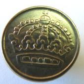 монета Швеция 10 эре, 1960, серебро!