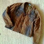 Утепляемся! 38-40р. джинсовая стёганая куртка-пиджак с велюровым напылением nok nok
