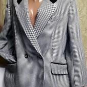 Собираем лоты!! Стильный пиджак на пышную красу оверсайз с принятом, размер 22