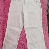 Белые капри, качество супер, ткань стрейч, Garland, размер 28