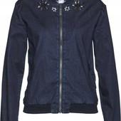 Стильная, качественная, фирменная джинсовая курточка. размер 48. новая. описание