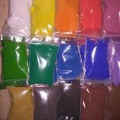 Цветной песок для творчества и рукоделия.
