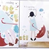 Наклейка интерьерная Девочка С Красным Зонтом