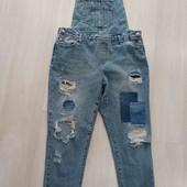 Модный джинсовый комбинезон, размер XL.