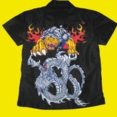 Летняя тениска с драконами на рост 150-164 см