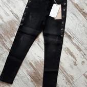 Стильные джинсы скинни модные элементы 6р 68/48см