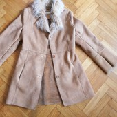 Пальто-дубленка. Замш