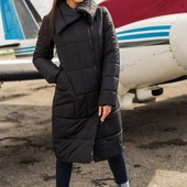 Стильная женская куртка-пальто, Размеры 40, 42, 44, 46! Цвета только хаки и морская волна!