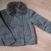 Куртка пальто цвета мокко в отличном состоянии