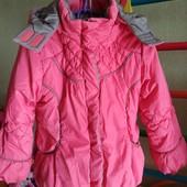 Зимняя курточка нарядная и теплая
