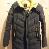 Готовимся к зиме! Куртка темно-серая удлиненная / пуховик, от +5 градусов до -20.