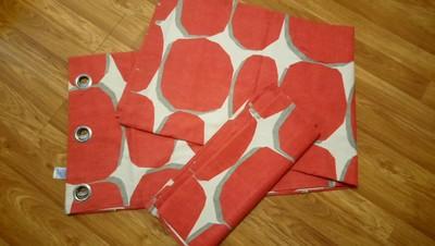 Комплект 2х плотных штор с подкладкой на люверсах 185*225см