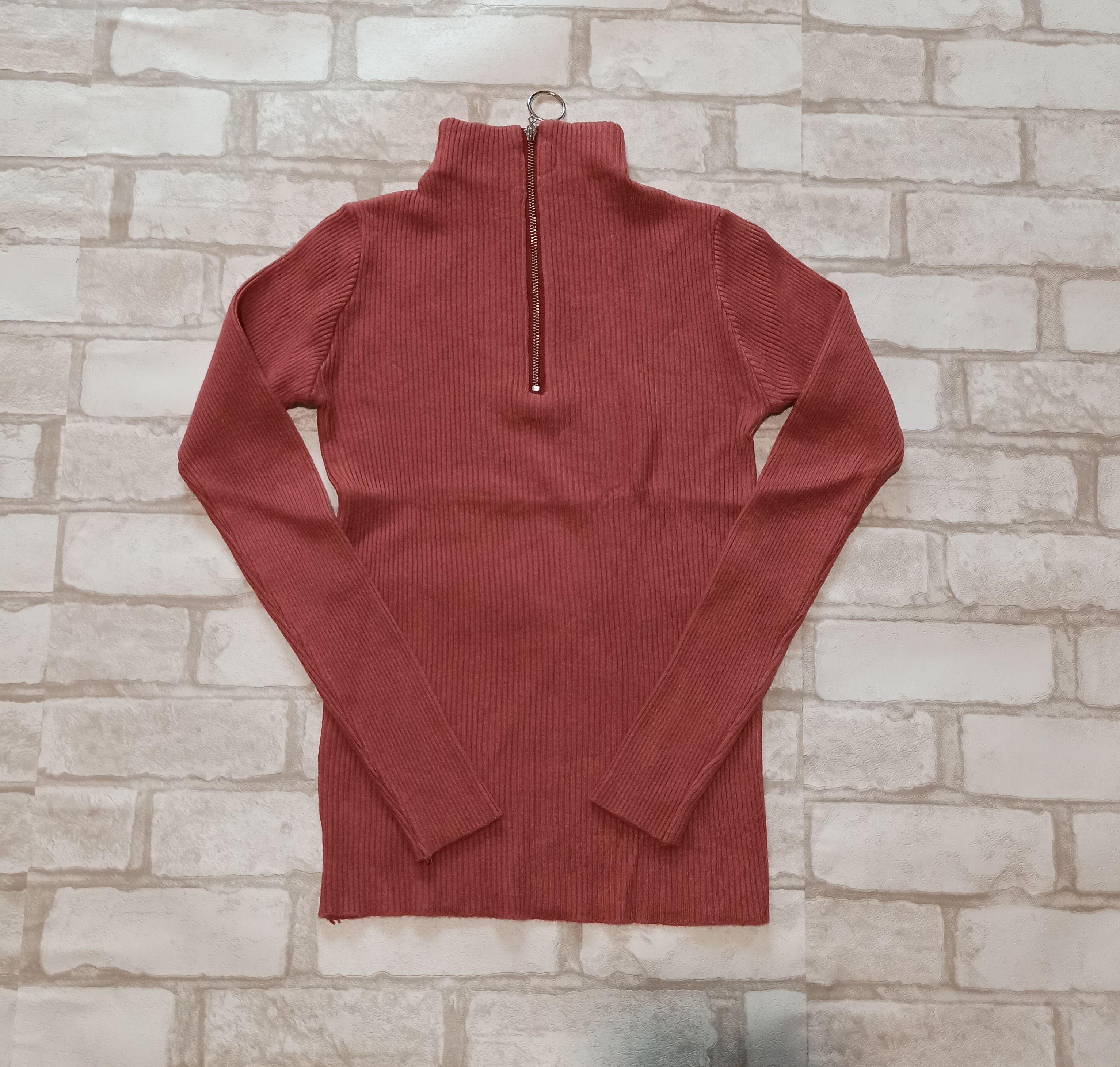 Супер мягкий шикарный гольф пуловер с молнией. One size -универсальный размер - Фото №4