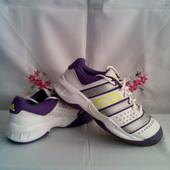 Фірменні красівки Adidas - оригінал з еко - шкіри + спорт матеріал роз.38..