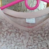 """Стоп! ❤ ,,Пёрышки""""-фирменный свитерок цвет пудра,8-9 лет❤Собирайте лоты,экономьте на доставке"""