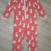 Слип пижама на девочку 5-6лет замеры на фото