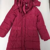 Зимняя удлиненная куртка пальто для девочки,146-152