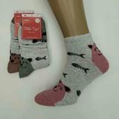 Якісні жіночі шкарпетки з котиками!!! Лот 1 на вибір. Носки.