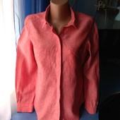 Симпатичная женская рубашка (100% лён), р.40(46-48)