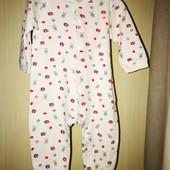Хлопковый слип с открытыми ножками на возраст 6-9 месяцев