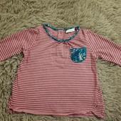 футболка туничка с зайчиком лиловая в идеале на 1-2 годика